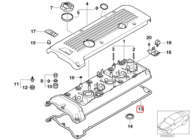 rocker cover gasket  s54 hack engineering