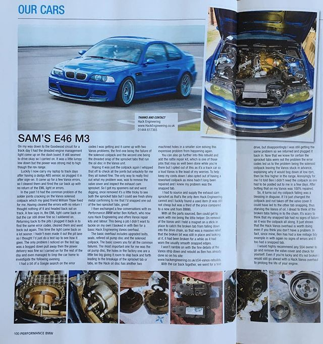 Performance BMW Magazine - Sam's E46 M3 Vanos Repair - Hack