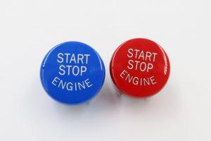 Red/Blue BMW Engine Start Stop Button (F Series)
